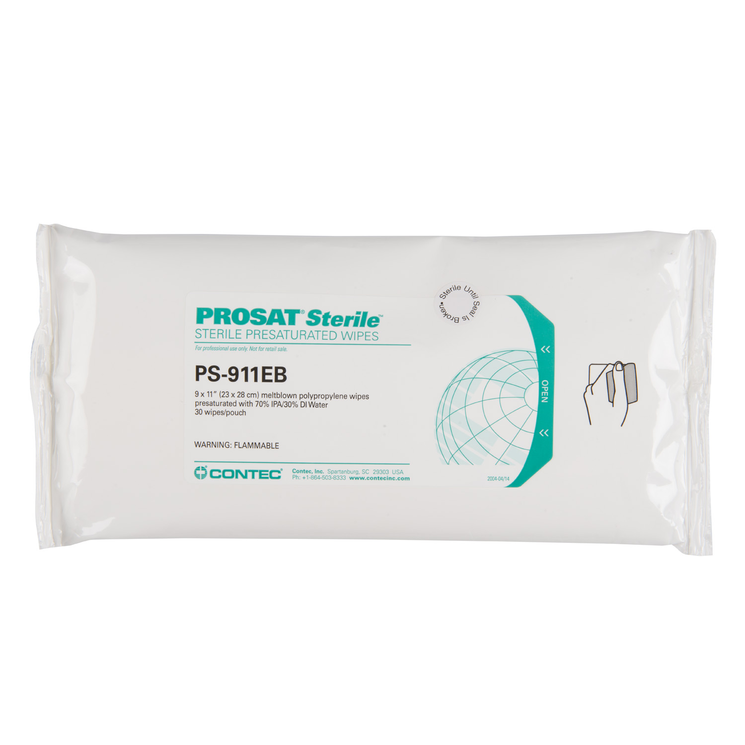 PROSAT® Sterile™ Meltblown Polypropylene Wipes (PS-911EB)
